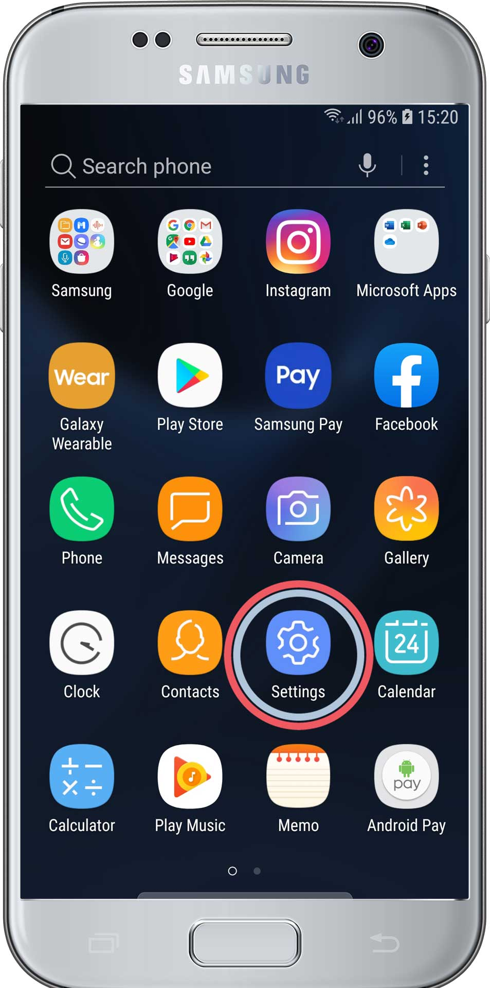 Android - Open settings